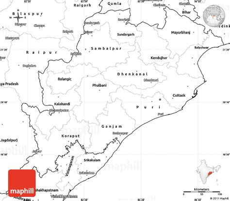 Odisha Map Outline by Blank Simple Map Of Orissa