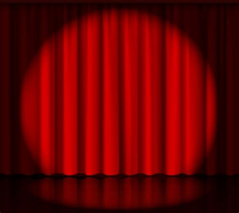 curtains spotlight red curtains stage