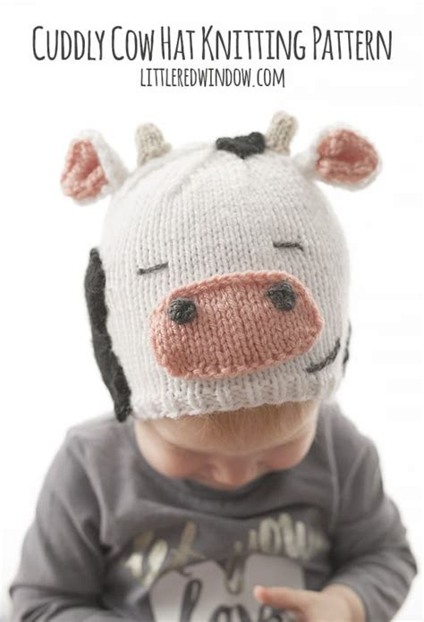cuddly cow hat knitting pattern little red window