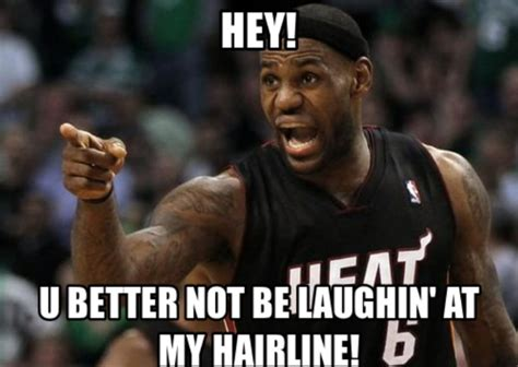 Lebron James Meme - the 50 meanest lebron james hairline memes of all time