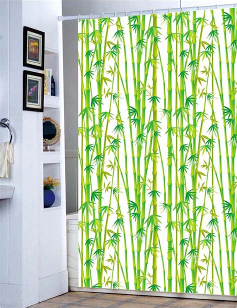 bamboo fabric shower curtain east green bamboo grove fabric shower curtain m3000