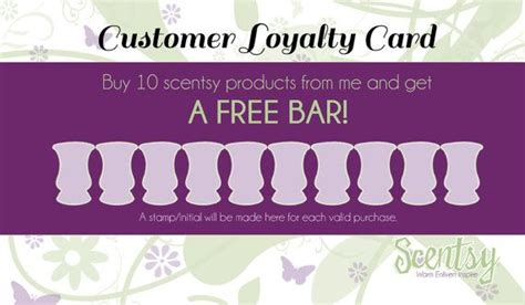 Scentsy Customer Loyalty Cards By Mycrazydesigns On Etsy My Designs Pinterest Loyalty Customer Card Template