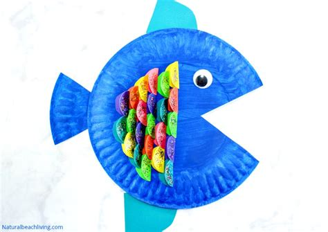 paper plate fish template paper plate fish craft for
