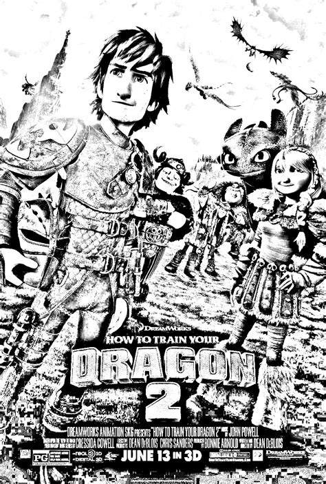 Dragon 2 Affiche Coloriage Dragons 2 Coloriages Pour
