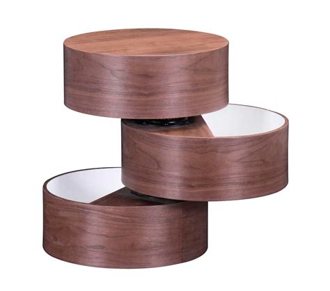 unique side tables unique shape side table in walnut z022 contemporary