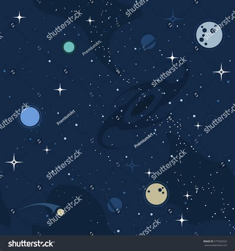 space pattern background free vector flat space seamless pattern background stock vector