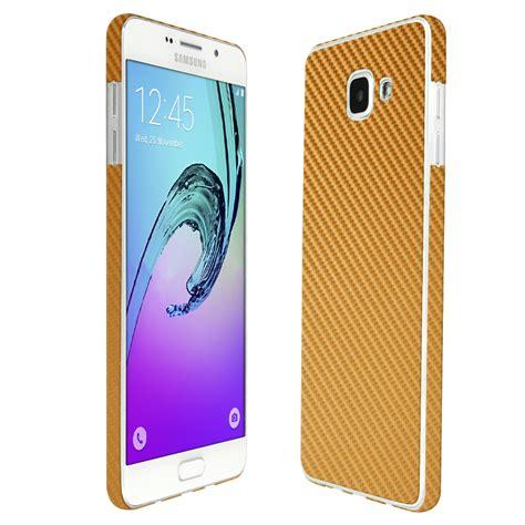 Samsung A7 Gold skinomi techskin samsung galaxy a7 gold carbon fiber