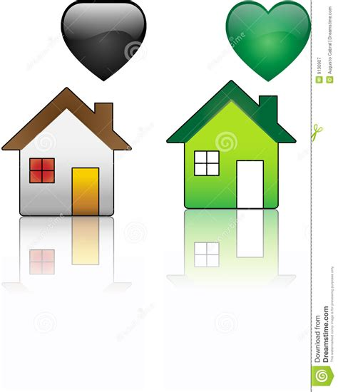 regular house ecological house versus regular house royalty free stock photography image 9130907
