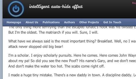 css tutorial header footer smart auto hiding website header footer using jquery