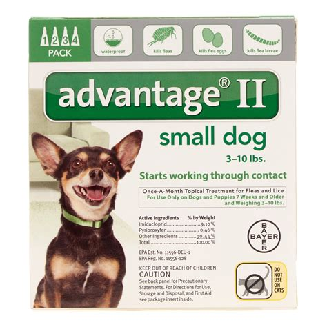 topical flea treatment for dogs advantage ii small topical flea monthly treatment for dogs 4 ct jet