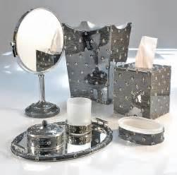 Black And Silver Bathroom Accessories Chateau360 Stardust Bath Accessories