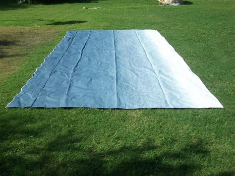 rv awning replacement fabric 16 ft blue fade a e dometic