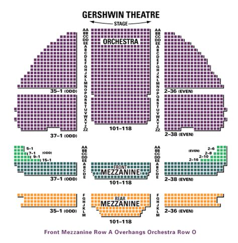 gershwin theater seating gershwin seating chart car interior design