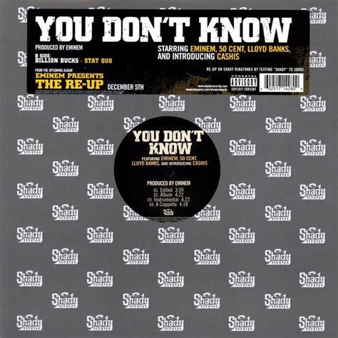eminem you don t know eminem you don t know x4 vinyl
