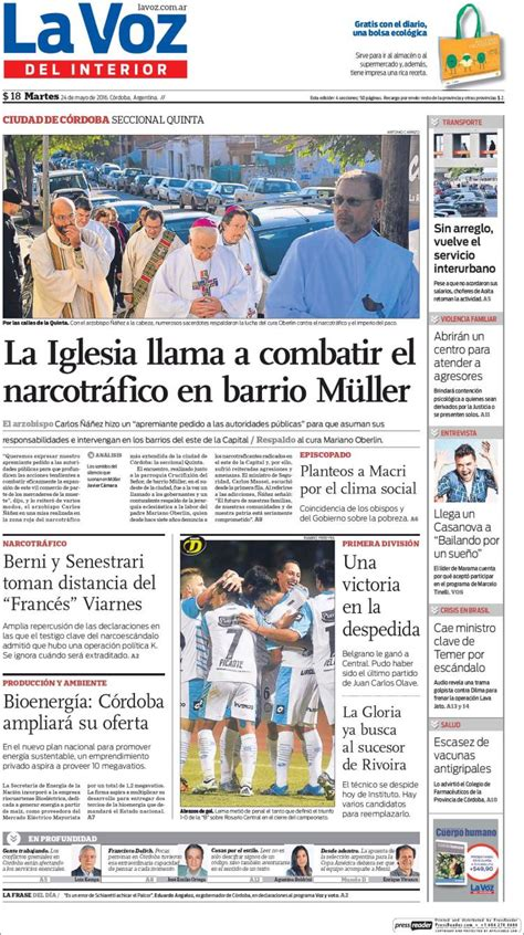 la voz interior de cordoba argentina newspaper la voz interior argentina newspapers in