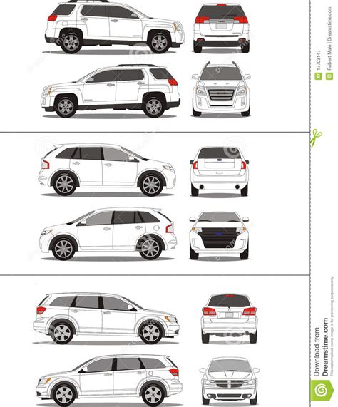 vehicle vector templates american suv vehicle outline royalty free stock
