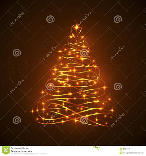 Abstract Shining Electric Light Christmas Tree Stock Electric Tree Lights