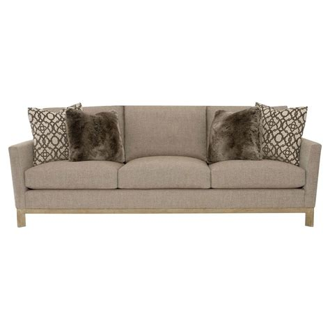 beige and brown sofa ernie modern classic brown beige oak sofa kathy kuo home