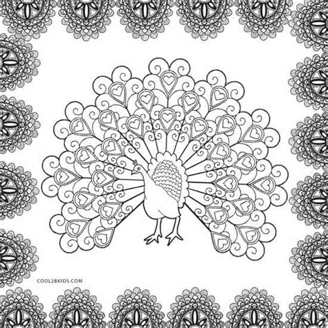 hard coloring pages of peacocks printable peacock coloring pages for kids cool2bkids