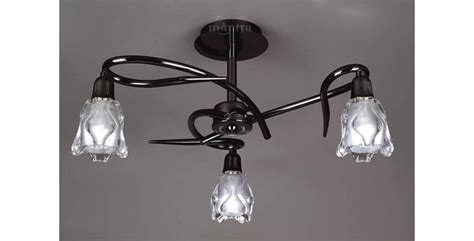 Black Nickel Ceiling Lights Three Arm Ceiling Lighting Fitting With Black Nickel