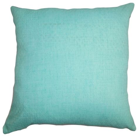Turquoise Decorative Pillows Haloke Solid Pillow Turquoise 20 Quot X20 Quot Traditional