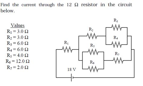 the current through the 3 ohm resistor in the circuit shown above is most nearly find the current through the 12 ohm resistor in th chegg