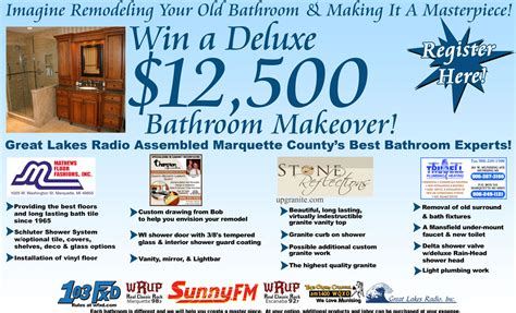 Win Bathroom Makeover 2014 by Our Registration Deadline For The Bathroom Makeover Is