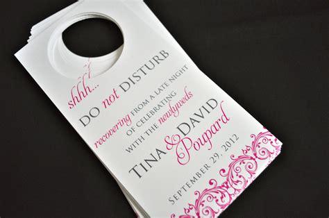 do not disturb door hangers wedding hanger inspirations