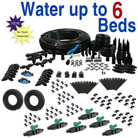 raised bed irrigation deluxe drip irrigation kit for raised bed gardening