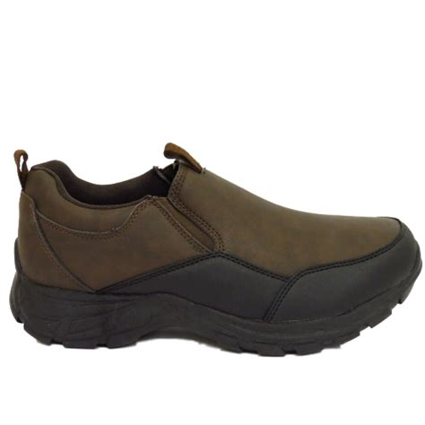 Rugged Slip On Shoes by Mens Brown Rugged Outback Slip On Casual Walking Trainers