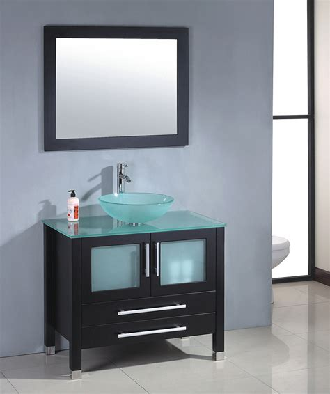 Single Vessel Sink Vanity Mtd Modern Glass Single Bathroom Vanity Mtb 8111b
