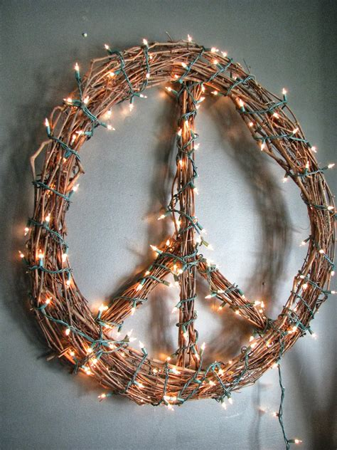 lighted peace sign wreath larson look for less design challenge cb2