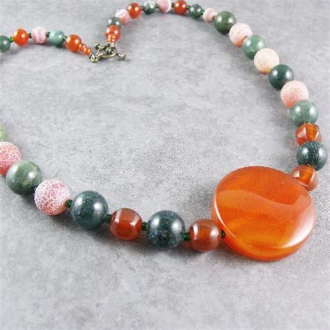 Handmade Jewellry Uk - carnelian necklace unique handmade jewellery design