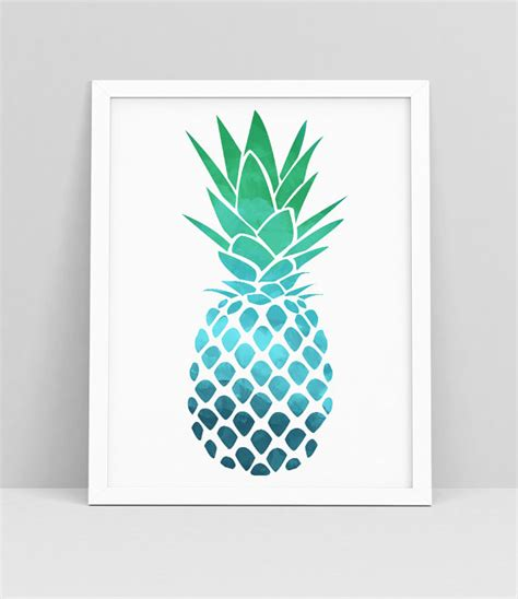 pineapple decor pineapple wall print pineapple wall