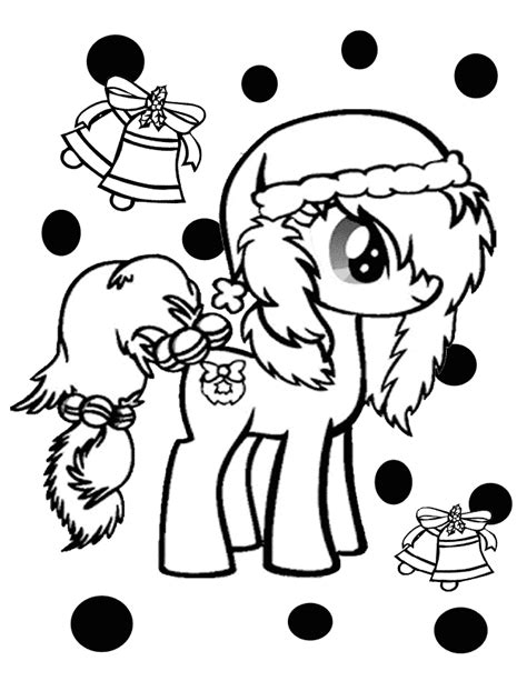my little pony coloring pages christmas my little pony with christmas bells coloring page h m