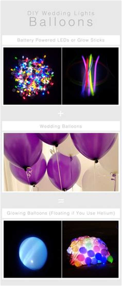 helium balloons with lights inside glow sticks in balloons for a pool party cool ideas