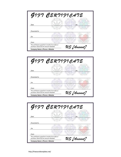 tattoo gift voucher free microsoft word templates