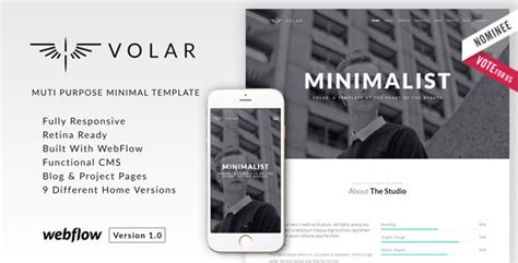 themeforest webflow volar minimal multipurpose webflow theme by summitthemes