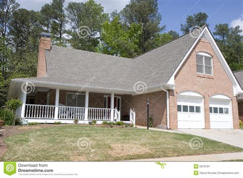 veranda in house brick house with veranda stock image image 5373791
