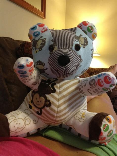 pattern for baby clothes teddy bear teddy bear made from old baby clothes free pattern