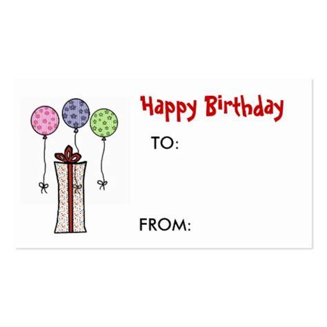 happy birthday gift tag business card zazzle