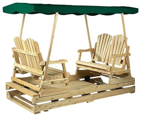 cedar glider swing rustic natural cedar deluxe garden glider green