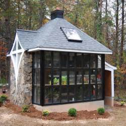 Green Small House Plans by Jeff S Cabin Amp Greenhouse Tiny House Design