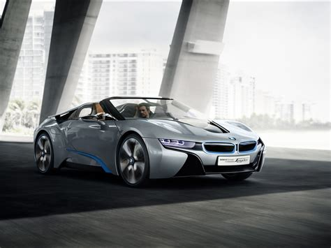 bmw i8 speed 2012 bmw i8 concept spyder front and side speed