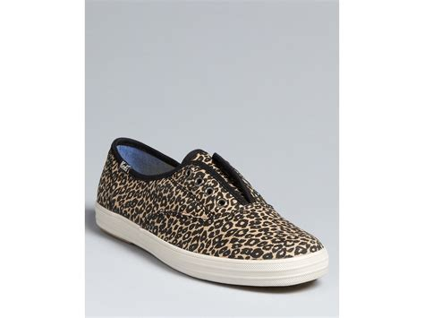 keds leopard sneakers keds laceless slip on sneakers chion in animal leopard