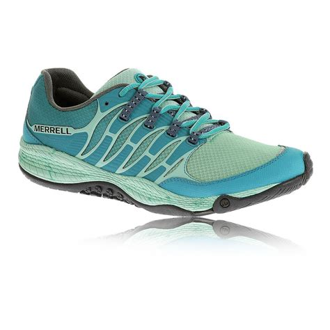 merrell trail shoes womens merrell allout fuse womens blue trail running sports shoes