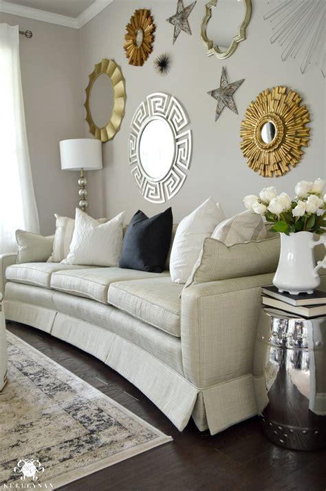 gold walls in living room formal living room tour