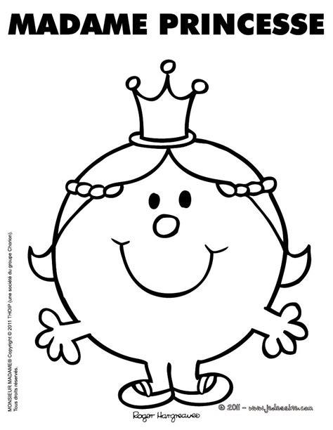 Coloriages Coloriage Gratuit Madame Princesse Fr