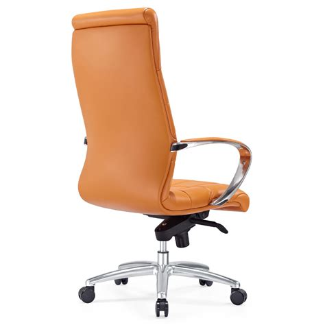 orange leather armchair leather strap office chair ikea black leather club chairs home furniture 100 pencil