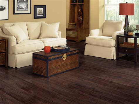 dark brown color luxury vinyl wood flooring for small